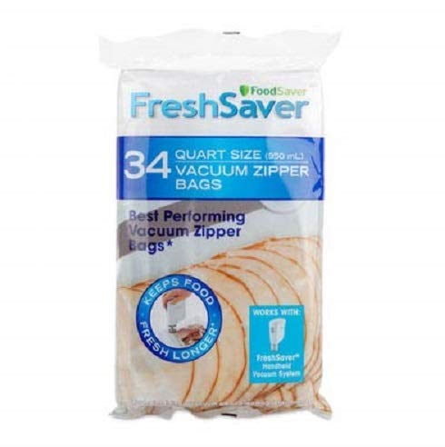 FoodSaver FreshSaver Quart-sized Vacuum Zipper Bags 34ct
