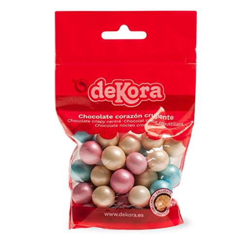 Dekora - Perlas de Chocolate Crujientes de Colores para Tartas Decoradas