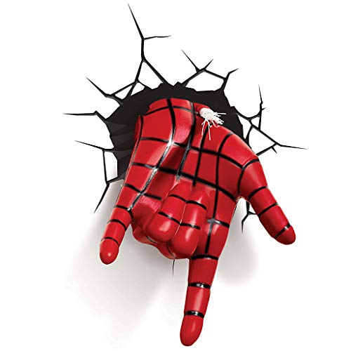 Wall lamp - 3D Marvel Spiderman Hand 3D Deco LED Wall Light (color : A)