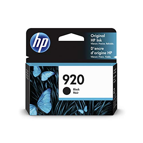 HP 920   Ink Cartridge   Black   Works with HP OfficeJet 6000, 6500, 7000, 7500   CD971AN