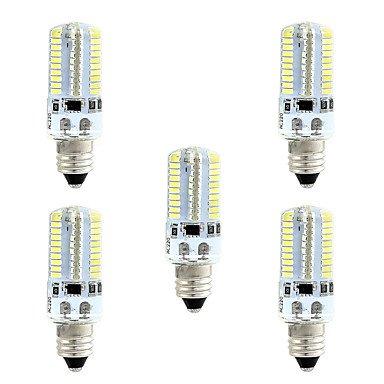 WELSUN 4W Ampoules Maïs LED 80 SMD 3014 360 LM Blanc Chaud Blanc 3000-3500 6000-6500 K Intensité Réglable AC110 AC220 V (Connector : E12, Light Source Color : Blanc chaud-110V)