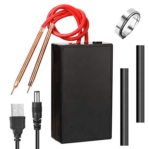 SUQIAOQIAO Spot Welter Portable DIY Schweißlötmaschine 18650 Batterie 6 Gänge Einstellbar mit einem Ladekabel, Mini-Spot-Schweißgerät-Werkzeugkit
