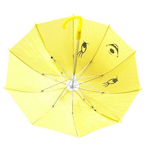 Dcolor Mini Parapluie de Forme de Panda Jaune pour Les Enfants