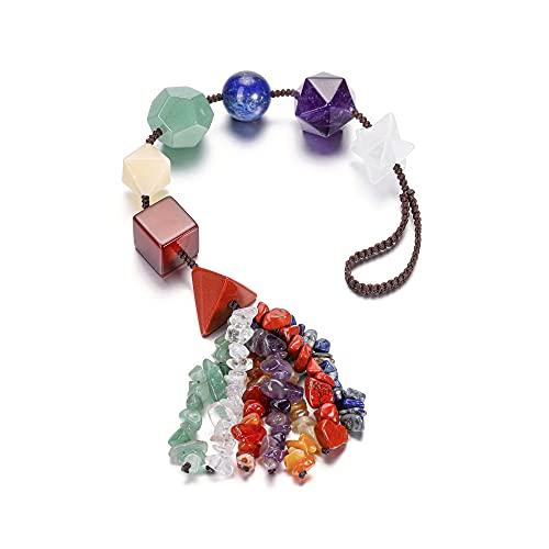 Crystal Tears - Decoración para ventana colgante, piedras chakras, decoración de pared, Feng Shui, amuleto de la suerte, meditación, joyas, decoración para el salón