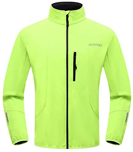 Wantdo Men Windproof Running Cycling Jogging Jacket Breathable Coat Green 2XL