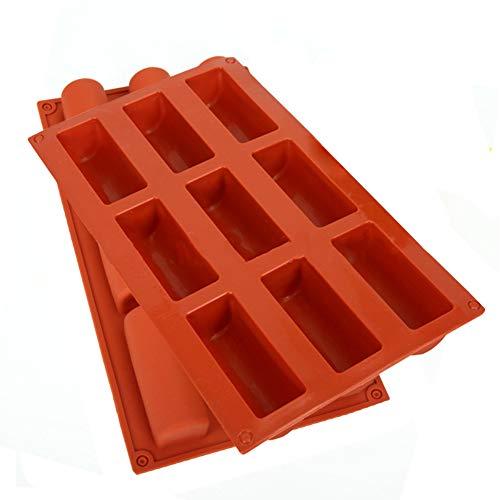 2 Stück Silikon Backform, 9-Loch-Halbzylinder-Antihaft-Silikonform, Kann Verwendet Werden, um Schokolade, EIS, Mousse und Andere Desserts zu Machen(Zufällige Farbe)