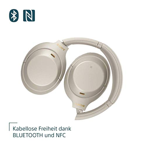 Sony WH-1000XM4 kabellose Bluetooth Noise Cancelling Kopfhörer, Silber + TP-Link UB400 Nano USB Bluetooth 4.0 Adapter Dongle