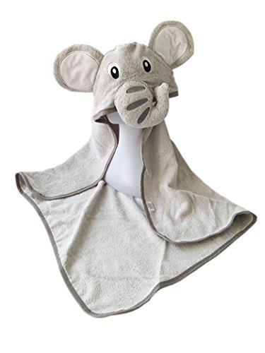 Großes Baby-Badetuch mit 100% Baumwolle & maschinenwaschbar im Elefanten-Design   Kapuzenhandtuch perfekt geeignet als Geschenk für Neugeborene, Kleinkinder, Säuglinge, Mädchen & Jungen von YourMate