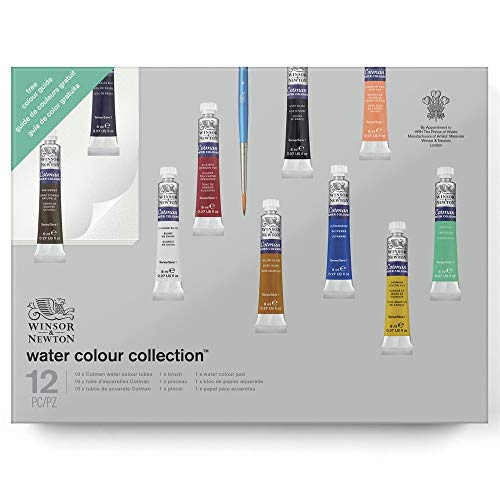 Winsor & Newton Cotman Set regalo acuarela, multicolor, 12 piezas (10 colores, 1 pincel, 1 almohadilla)