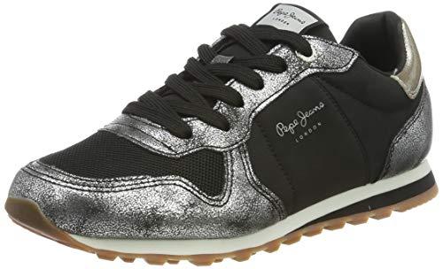 Pepe Jeans London Verona W Twin, Zapatillas Mujer, Chrome 952, 38 EU