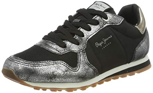 Pepe Jeans London Verona W Twin, Zapatillas para Mujer, Chrome 952, 39 EU