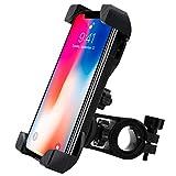 SUNNEY Teléfono titular de la bicicleta con rotación de 360 con 4 brazos de sujeció [sistema anti-vibración y estable motocicleta soporte] - Teléfonos inteligentes de entre 3,5 y 6,5 pulgadas