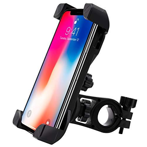 SUNNEY Handyhalterung Fahrrad, 360-Drehung Universal Handyhalter Fahrrad mit 4 Klemmarmen Anti-Shake-System und stabile Handyhalterung Motorrad für alle Smartphones zwischen 3,5 und 6,5 Zoll