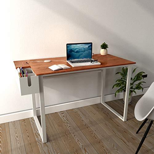 Jordyblue Solid Wood Office Desk (Matte Finish, Cherry)