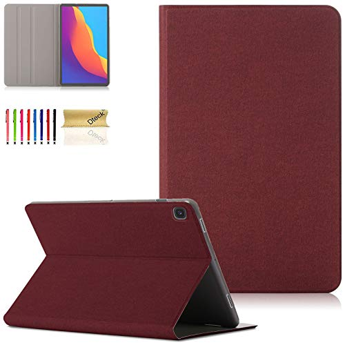 Dteck Samsung Galaxy Tab S5e 10.5 Case, Ultra Slim Lightweight Multiple Angle Stand Cover with Auto Wake/Sleep for Galaxy Tab S5e 10.5 Inch Model SM-T720/SM-T725 2019 Release, Red