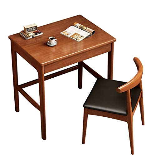 LXJ Writing Desk, Simple Modern Rubber Wooden Desk, Small Apartment Home Office Desk Suitable for Adults and Children, 80 Cm