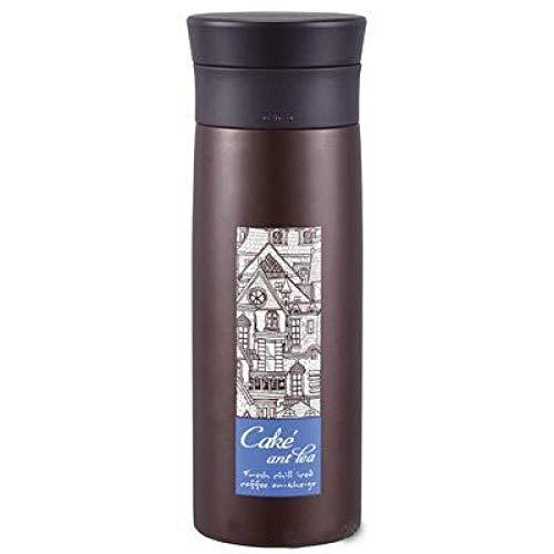 Yumanluo Botella Reutilizable para niños,Taza de té de Acero Inoxidable-Brown_250ml,Aislamiento de Vacío de Doble Pared