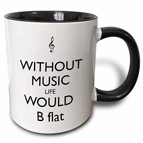 3dRose 173351_4 Two Tone Mug, 11 oz, Black