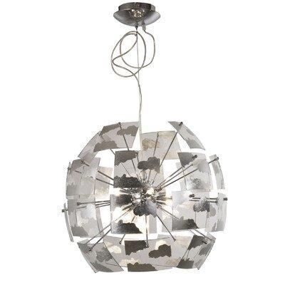 Lámpara Urania techo hoja plata D.50