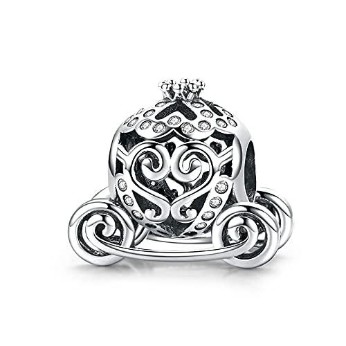 Mujeres Plata De Ley 925 Princesa Ganado Calabaza Coche Carro De Bebé Casa Familiar Cuentas para El Hogar Fit Charm Bracelet DIY Jewelry Making Gift