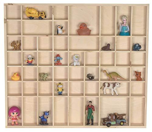 LAUBLUST Großer Setzkasten aus Holz - ca. 52 x 46 x 5 cm, Natur, FSC® - Holz-Regal mit 51 Kästchen für Sammelstücke