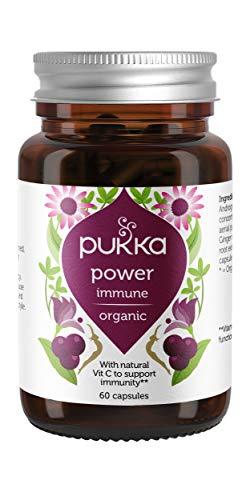 Pukka Herbs Power Immune Herbal Supplement, Organic Blend with Vitamin C and Echinacea, 60 Capsules