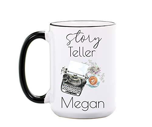 Writer Mug - Personalized Large 15 oz or 11 oz Ceramic Cup - Writer Gifts for Writers - Reading Lover Mugs - Author Gift - Book Coffee Cups - Dishwasher & Microwave Safe - Made In USA