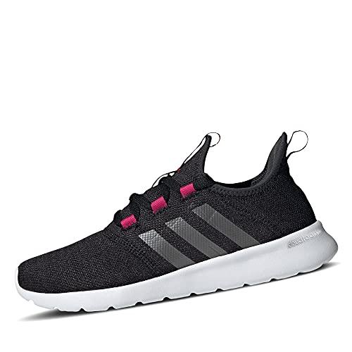 adidas Damen Cloudfoam Pure 2.0 Road Running Shoe, Core Black/Iron Metallic/Team Real Magenta, 39 1/3 EU