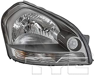 CarLights360: Fits 2005 2006 2007 2008 Hyundai Tucson Headlight Assembly Passenger Side (Right) w/Bulbs - Replacement for HY2503133 (Vehicle Trim: To 05/2008)