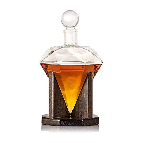 KAYBELE Whiskey Glasses Set Whiskey Jart Set Whiskey Decanter, Creative Diamond Glass View Decanter, para Alcohol, Scotch, Ron, Borbón, Vodka 1000 ml