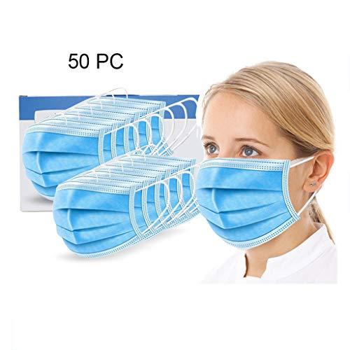XXZJD Gezichtsmasker Disposable, 10/50 PCS Standard-verzegelde tas met oor Loops Cup Maskers Ademende Oorhaakje gezichtsmasker 3 Lagen Maskers (Color : 50 packs)