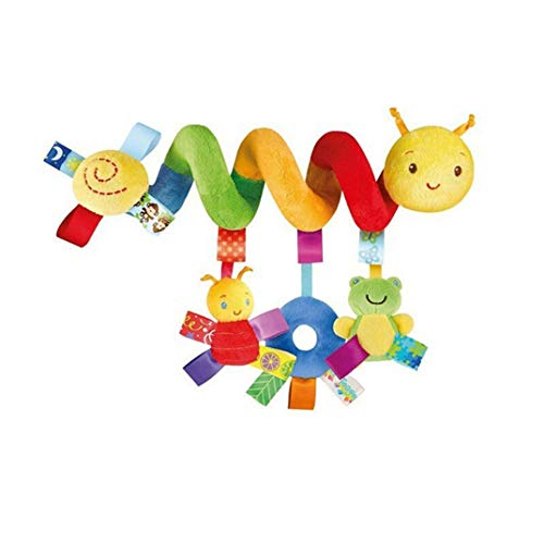 DYSCN Kinderwagen Spielzeug Aktivität Spiral Hanging Toy mit Klingelglocke für Säuglingsbett Spielzeug für Baby Insect Cognition