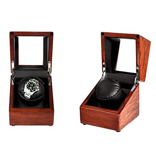 Cajas Giratorias Watch Winder Enrollador automático de un Solo Reloj con Motor Mabuchi silencioso (Color : A)