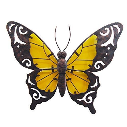WOERD DecoracióN De Pared De Hierro Forjado Tridimensional Mariposa Colgante De Pared Creativo Hogar Sala De Estar Porche TV Fondo DecoracióN De Pared