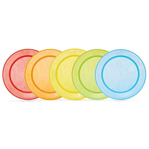 Munchkin - Pack de 5 platos para comida, surtido de colores