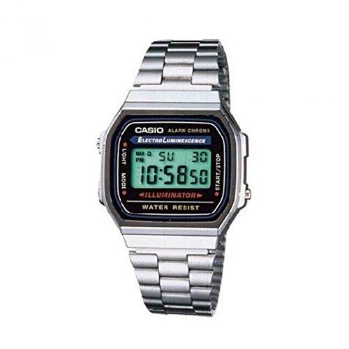 Casio Collection Retro A168WA-1YES Digitaluhr für Herren Mit Beleuchtung