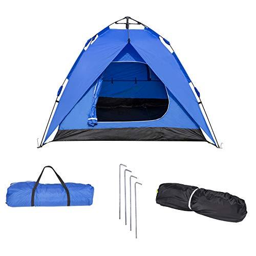 Laneetal Campingzelt Wurfzelt 2-3 Personen Zelt Sekundenzelt Camping Festival Outdoor Wasserdichtes Zelt 3 Jahreszeiten 180x200x150cm Blau