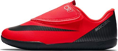 Nike JR Mercurial Vaporx 12 CR7 IC Youth Indoor Soccer Shoes (10.5C) Crimson/Black