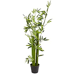 Nearly Natural 5-Ft. Green Bamboo Artificial Silk Trees