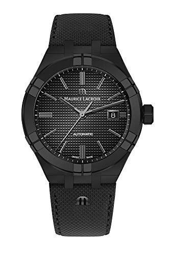 Maurice Lacroix herenhorloge Aikon Automatic Full Black - AI6008-PVB01-330-1