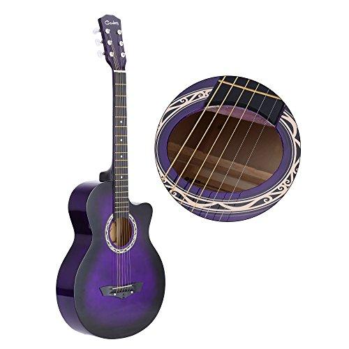 ammoon 38 ' Guitarra Acústico Folclórica 6 Cuerdas para Principiantes Estudiantes Regalo
