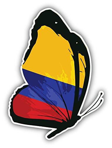 Postwalldecor Colombia Flag Butterfly Alta Calidad