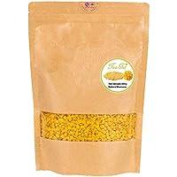 TooGet Pellets de Cera de Abeja Amarilla Pura, Cuentas de Cera de Abeja Natural, Pastillas de Cera de Abeja - Calidad Superior, Calidad Cosmética - 400g
