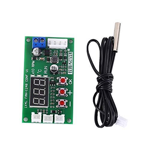 PWM controlador Módulo , DC 12 V 24 V 48 V PWM Controlador de temperatura del ventilador de 4 cables, controlador de velocidad, módulo de pantalla para ventilador / alarma de PC