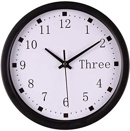 youmengying Co.,ltd Relojes De Pared Reloj De Plástico Transparente Silencioso Sala De Estar En Casa Retro Redondo Grande Decoración para El Hogar Al Aire Libre C
