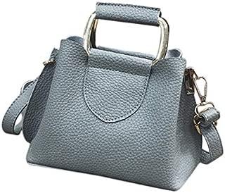 TOOGOO New Fashion Style Pu Women'S Handbags European Fashion Design Bags Zipper Shoulder Bag Solid Ladies Messenger Bags Tote Light Grey
