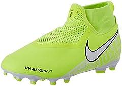 Nike Jr. Phantom Vision Academy Dynamic Fit MG, Botas de fútbol Unisex niño, Verde (Volt/White/Volt 717), 33 EU
