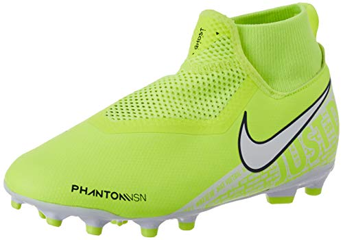 Nike Jr. Phantom Vision Academy Dynamic Fit MG, Scarpe da Calcio Unisex-Bambini, Verde (Volt/White/Volt 717), 33 EU