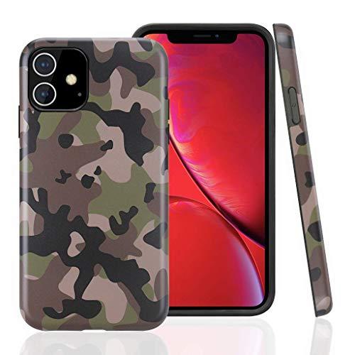 Cujas iPhone 11 kompatible Hülle Weiche Camouflage TPU Silikon Schutzhülle Blickdicht mit IMD Technologie Camo Militär Muster Case Schutz Handyhülle (iPhone 11 Grün)