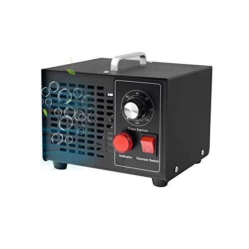 Fasttobuy Generador de ozono, generador comercial de ozono 5000 mg/h Desodorante negro esterilizador industrial O3 para purificador de aire para habitación, humo, coche y animales domésticos